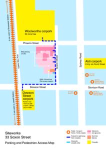 Siteworks Parking/pedestrian Access